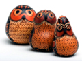Andes, Peru, Fair Trade, Owls, Gourd, Handcarved