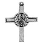 Talisman, Rose, Cross , High Concepts, Leadfree, Pewter, Amulet