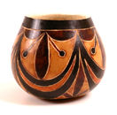 Andes, Peru, Fair Trade, Bowl, Gourd, Geometric, Handcarved