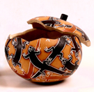 Andes, Peru, Fair Trade, Boxes, Box, Gourd, Lizard, Handcarved