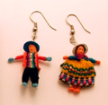 Andes, Peru, Fair Trade, Worry, Doll, Earrings, Jewelry