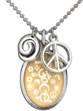 Coexist necklace peace oval wheat aloadofball Images