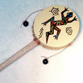 Andes, Peru, Fair Trade, Tamborine, Spin Drum, Instrument, Toys, Handpainted