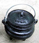 Cauldron, Pot, Cast Iron, Smudge, 1301, Ritual, Camping,Joga, Witch Pot