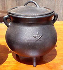 Cauldron, Pot, Cast Iron, Potbelly, Star, 1305, Ritual, Camping