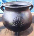 Cauldron, Pot, Cast Iron, Potbelly, Celtic, Trillion, 1311, Ritual, Camping