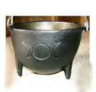Cauldron, Pot, Cast Iron, Smudge, 1314, Ritual, Camping, Triple Moon