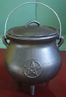 Cauldron, Pot, Cast Iron, Potbelly, Pentacle, 1316, Ritual, Camping