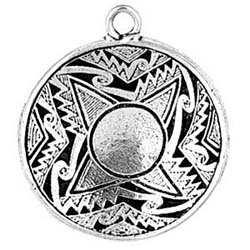 Mimbres, Pendant, Native American, Sacred, Offering, High Concepts, Leadfree, Pewter, Amulet