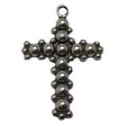 Beaded Cross, Faith, Christian, Pendant, High, Concepts, Leadfree, Pewter, Safepewter