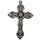 Floral Cross, Faith, Christian, Pendant, High, Concepts, Leadfree, Pewter, Safepewter