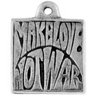 Peace, Make Love Not War, Pendant,  High Concepts, Leadfree, Pewter, Amulet