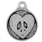Peace, Heart, Pendant, High Concepts, Leadfree, Pewter, Amulet