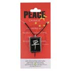 Peace, Pendant, China, Flag, Chinese, High Concepts, Leadfree, Pewter