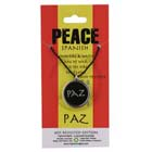 Peace, Paz, Pendant, Spain, Flag, Spanish, High Concepts, Leadfree, Pewter