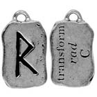 Runes, Pendant, Transform, Rad, High Concepts, Leadfree, Pewter, Amulet