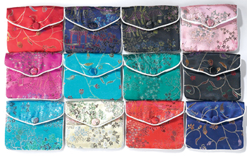 Silk, China, Brocade, Pouch, Jewelry