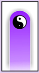 Nail Files, Glass Nail Files, Crystal Nail Files, Accessories, Yin Yang, Purple Moon