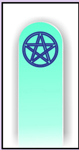 Nail Files, Glass Nail Files, Crystal Nail Files, Accessories, Pentacle, Purple Moon