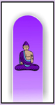 Nail Files, Glass Nail Files, Crystal Nail Files, Accessories, Buddha, Purple Moon