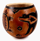 Andes, Peru, Fair Trade, Bowl, Gourd, Animals, Handcarved