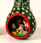 Ornaments, Andes, Peru, Fair Trade, Christmas, Holiday, Nativity, Gourd, Carved, Handpainted