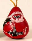 Ornaments, Andes, Peru, Fair Trade, Christmas, Holiday, Santa, Gourd, Carved, Handpainted
