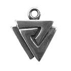 Zemi, Triple Triangles, Pendant, High Concepts, Leadfree, Pewter, Amulet