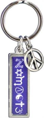Coexist Keychain-Rectangle
