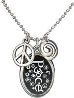 Coexist Necklaces Oval