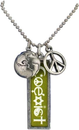 Coexist necklace olive rectangle aloadofball Images