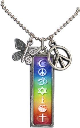 Coexist necklace rainbow rectangle aloadofball Gallery