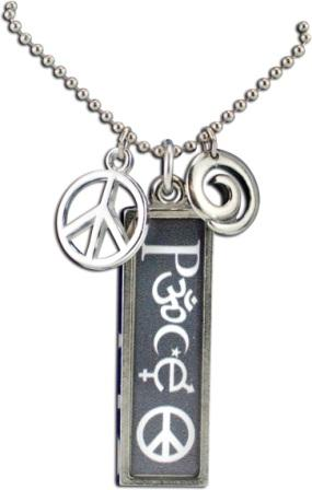 Coexist necklace peace rectangle aloadofball Images