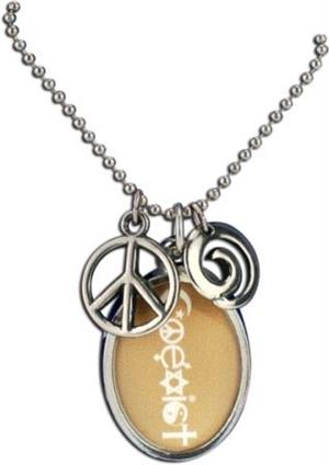 Coexist necklace wheat oval aloadofball Images
