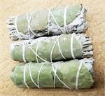 White Sage/Eucalyptus bundle, Smudge, ceremony, Crystal Peddler