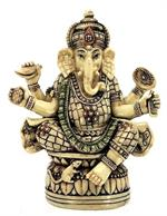 Ganesh Ivory Mosaic with Many Hands, Crystal Peddler
